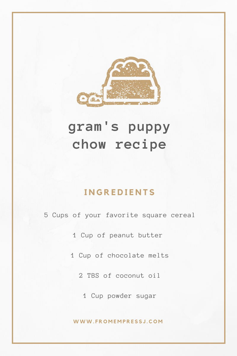 homestead puppy chow receipe